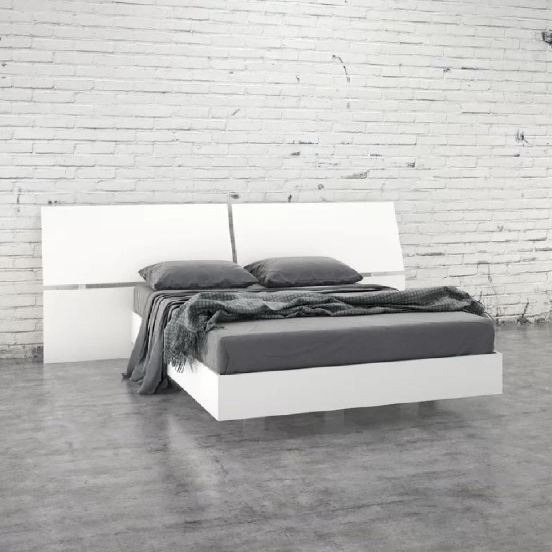 Latitude Run Kucera White Platform Bed