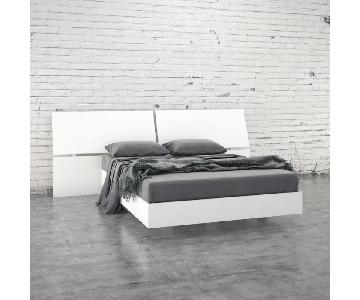 Latitude Run Kucera White Platform Bed