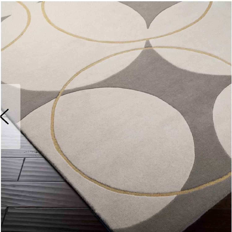George Oliver Truro Grey Wool Rug - image-1