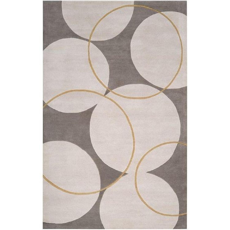 George Oliver Truro Grey Wool Rug - image-0
