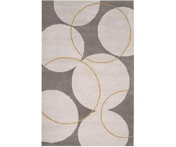 George Oliver Truro Grey Wool Rug