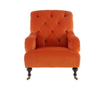 Horchow Clementine Velvet Tufted Chair