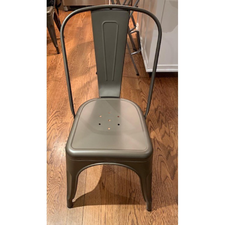 Poly and Bark Grey Metal Chair - image-1