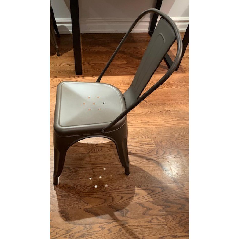 Poly and Bark Grey Metal Chair - image-4