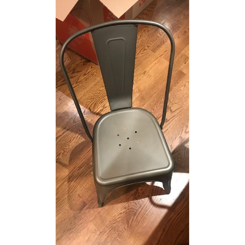 Poly and Bark Grey Metal Chair - image-5
