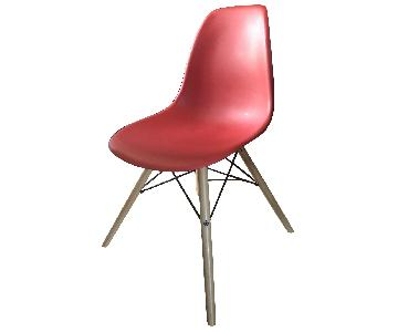 Mid-Century Modern Red Dining Chairs