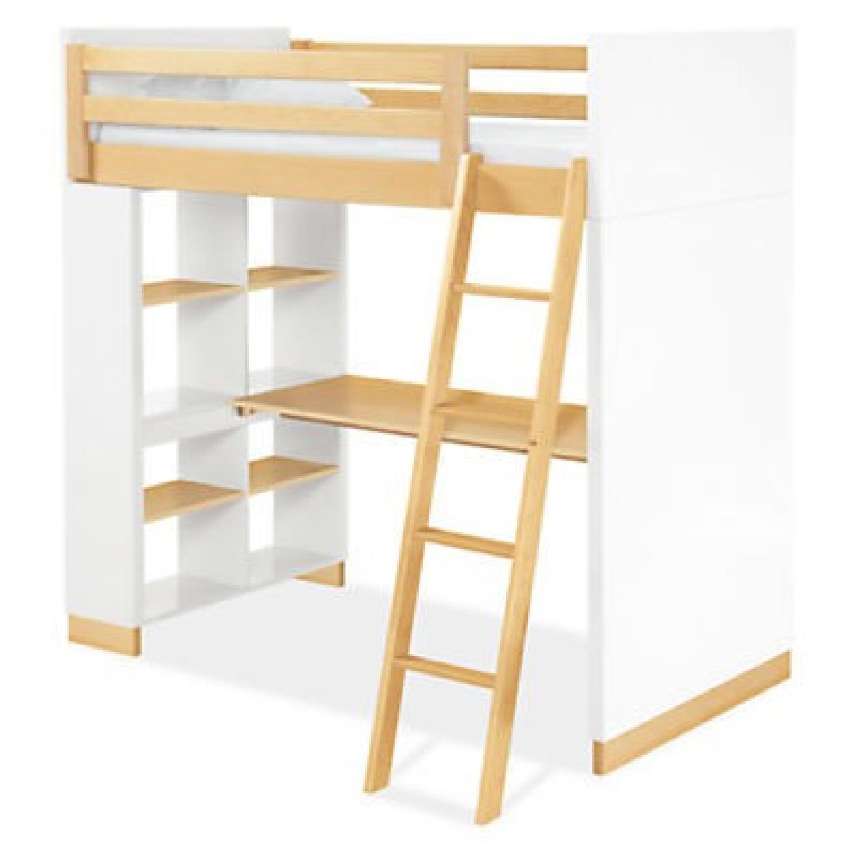 Room & Board Moda Loft Bed w/ Desk & Bookcase
