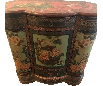 Hand Painted Wood Console