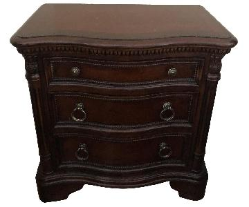 Raymour & Flanigan Solid Cherry Wood Side Table