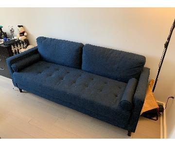 Modern Sofa w/ Wood Legs