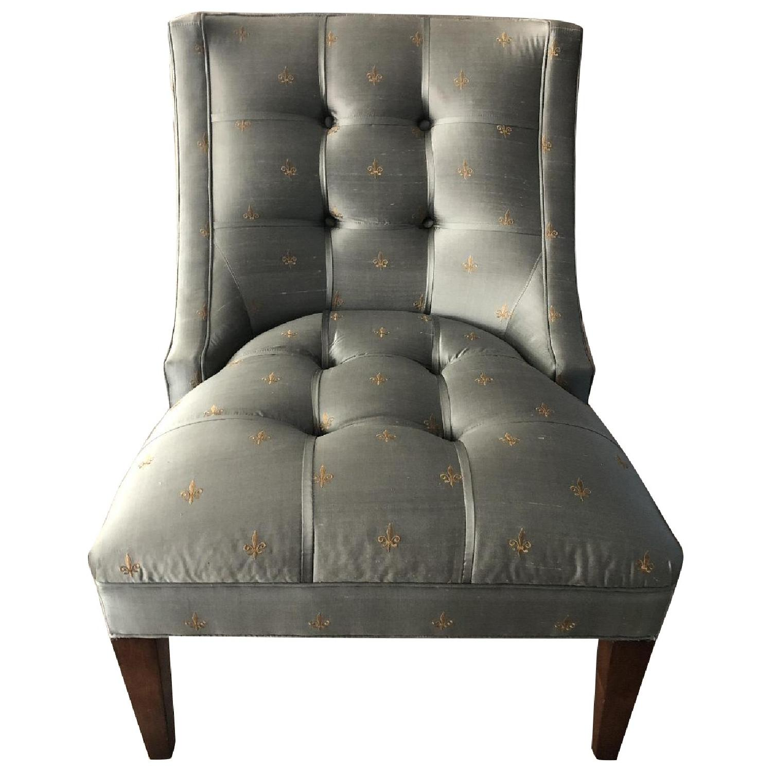 Drexel Heritage Silk Wood Accent Chair