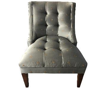Drexel Heritage Silk & Wood Accent Chair