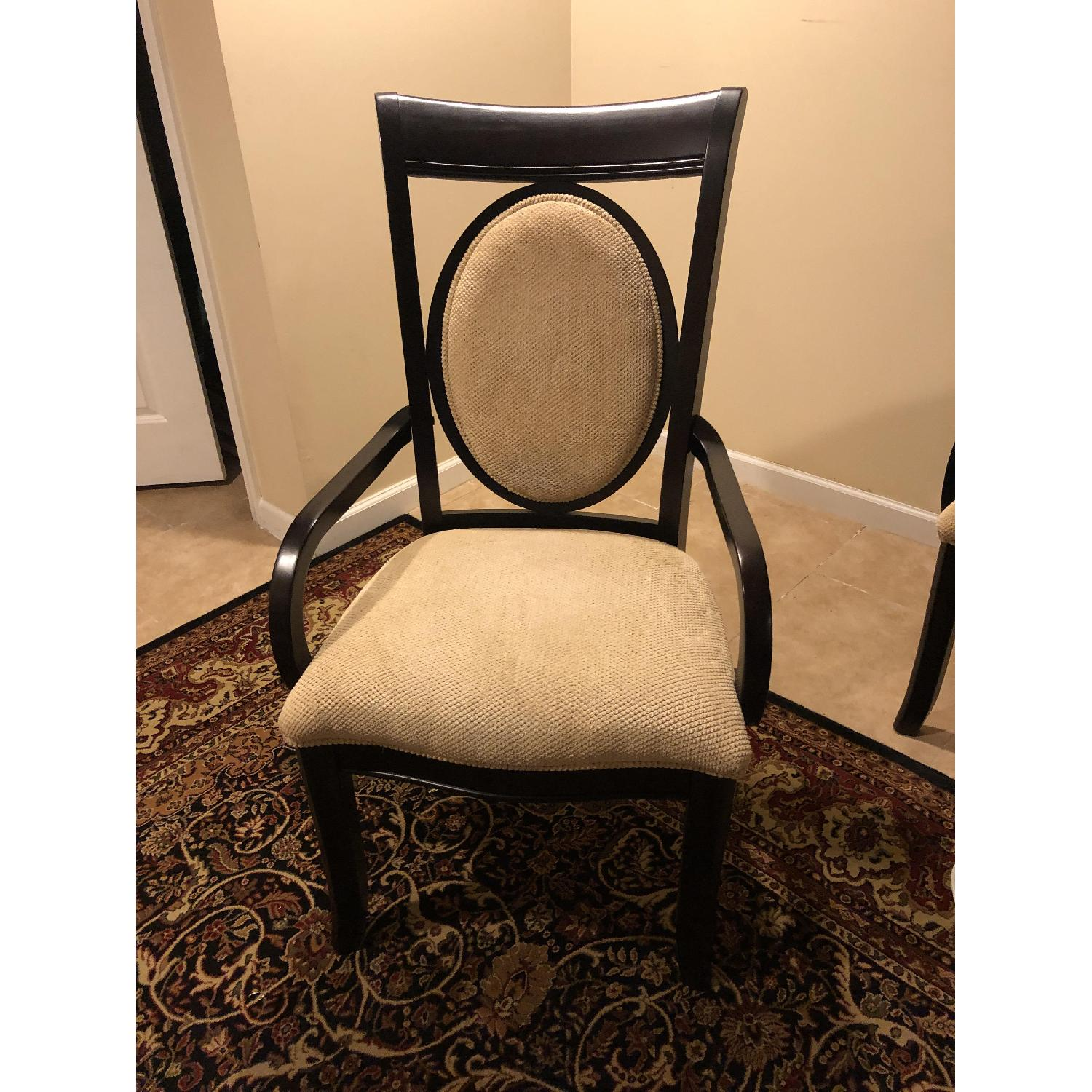 Raymour & Flanagan Solid Wood Upholstered Accent Chair-0
