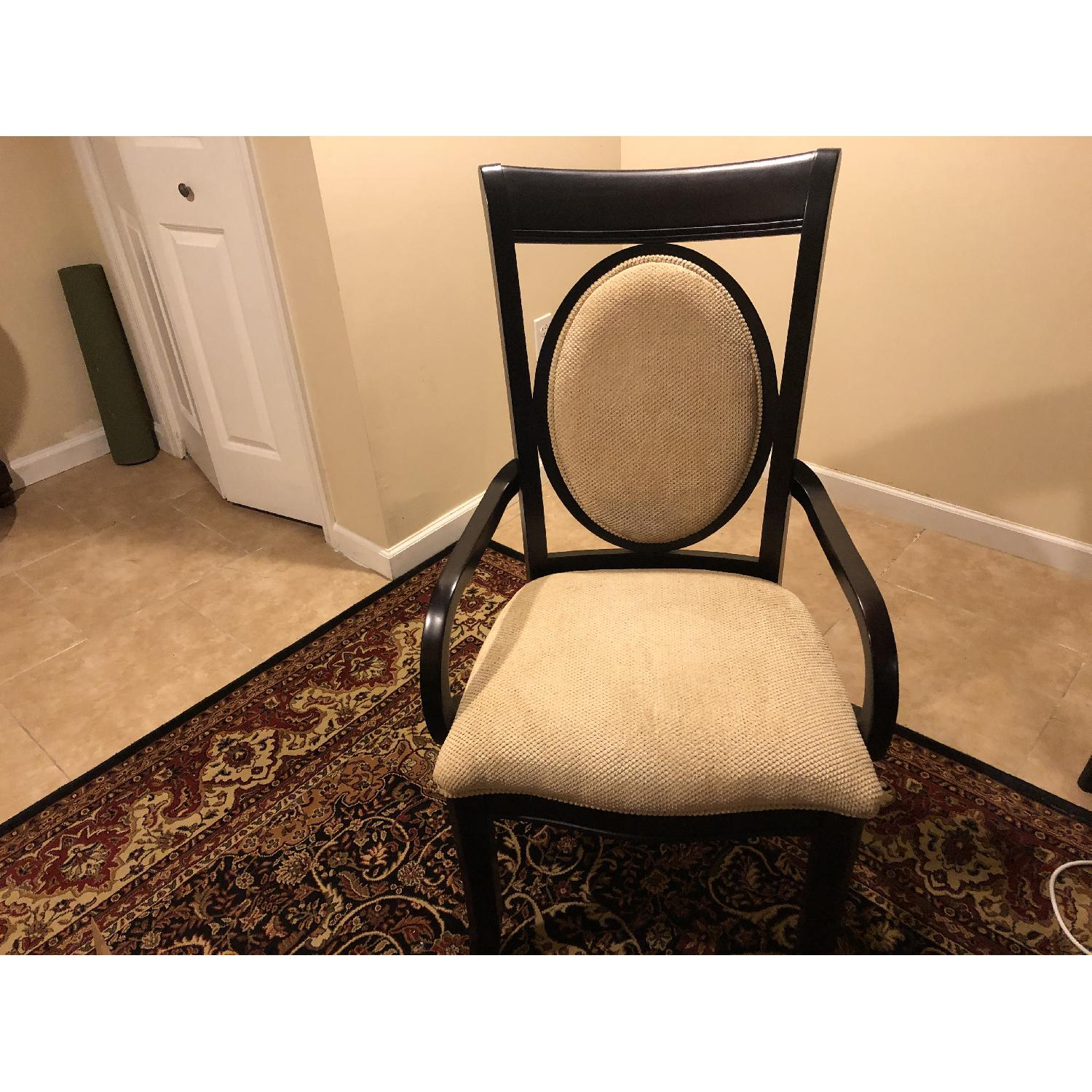 Raymour & Flanagan Solid Wood Upholstered Accent Chair-2
