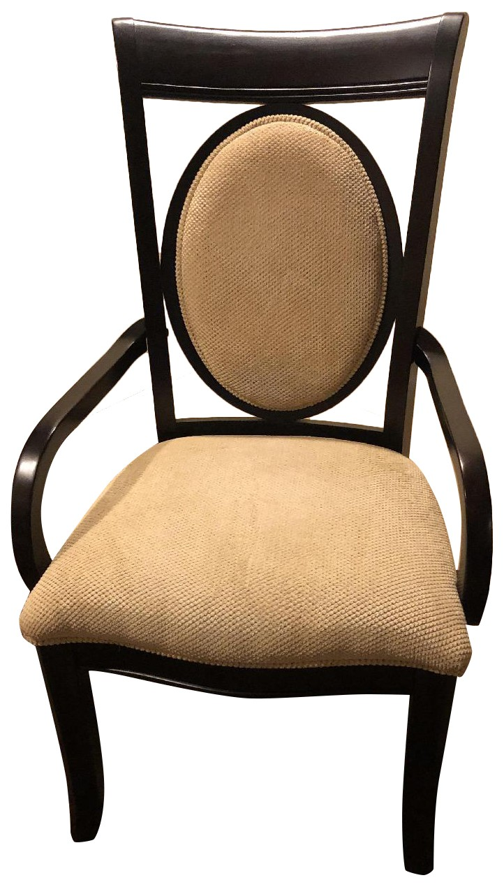 Raymour & Flanagan Solid Wood Upholstered Accent Chair