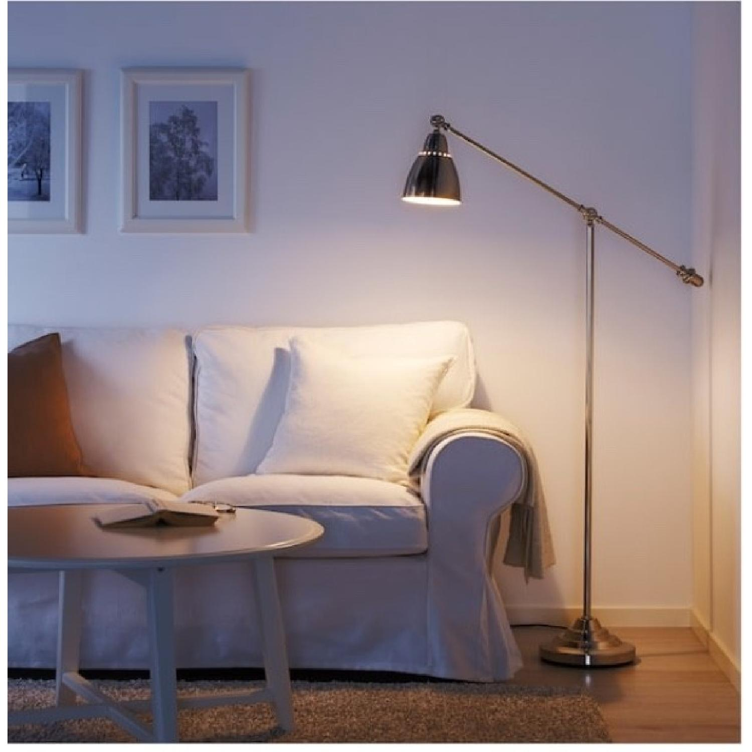 Silver Metal Architects Floor Lamp - image-1
