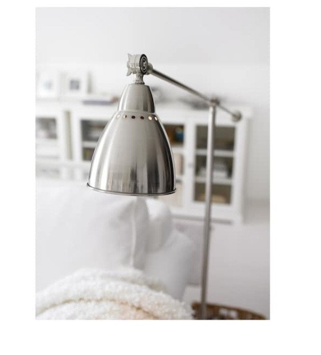 Silver Metal Architects Floor Lamp