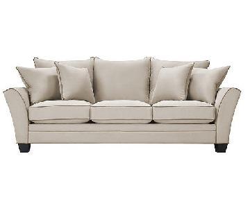 Raymour & Flanigan Briarwood Microfiber Sofa in Taupe