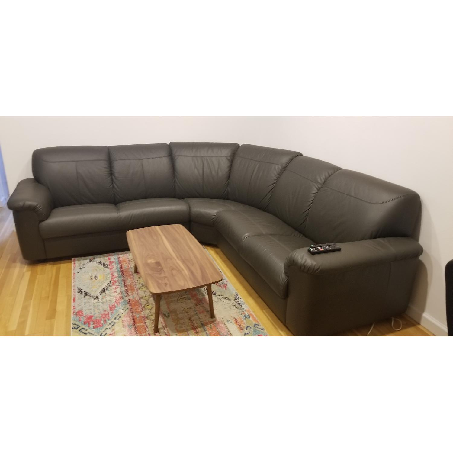 Ikea Timsfors Faux Leather Sectional Sofa - image-1