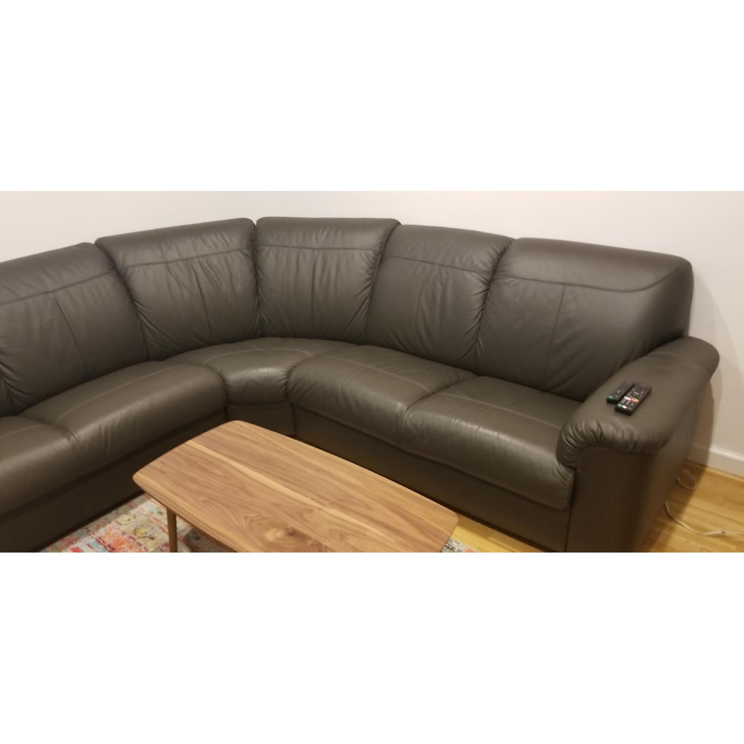 Ikea Timsfors Faux Leather Sectional Sofa - image-2