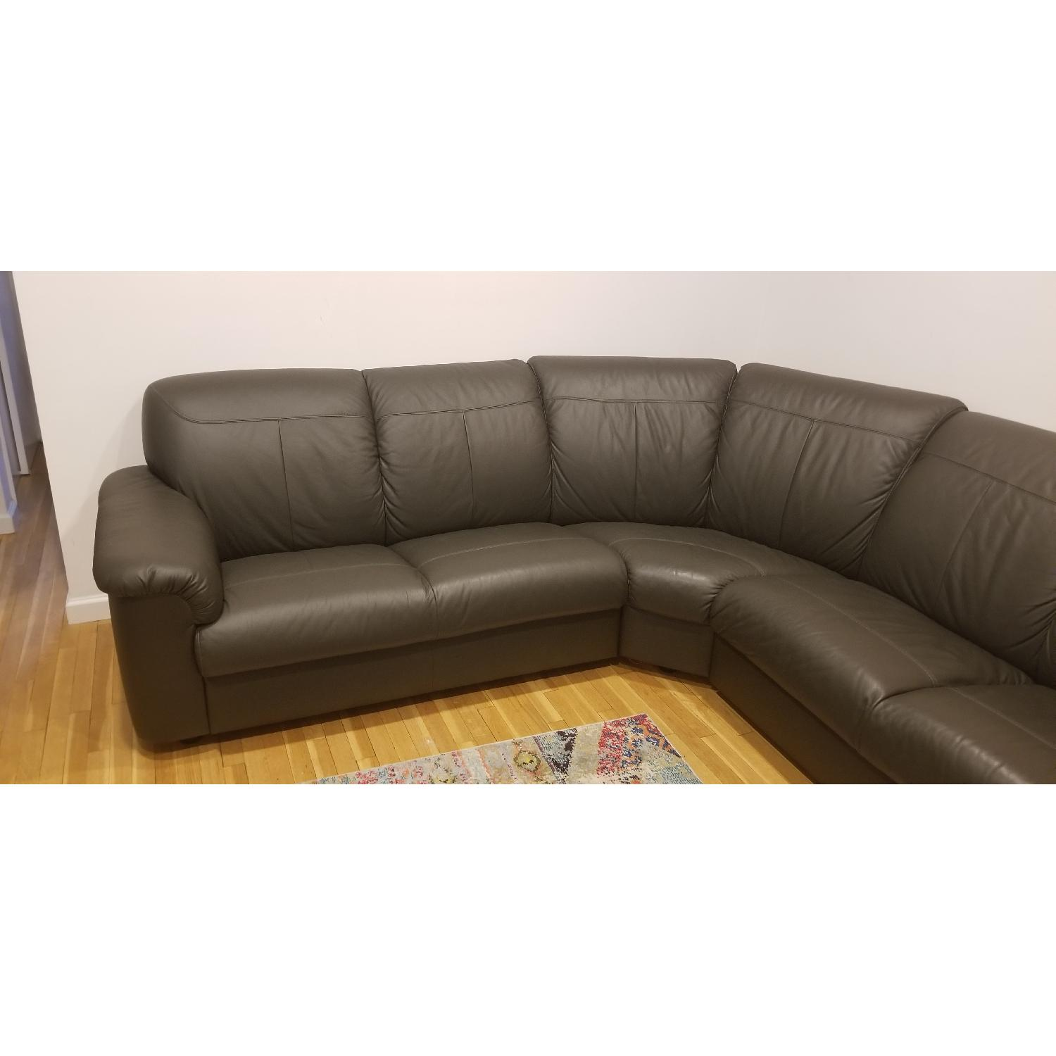 Ikea Timsfors Faux Leather Sectional Sofa - image-4