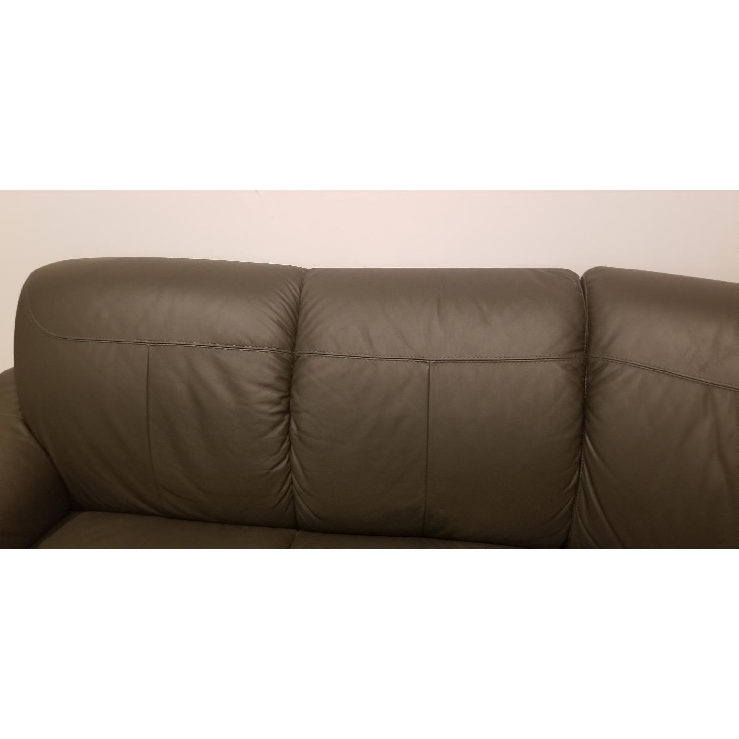 Ikea Timsfors Faux Leather Sectional Sofa - image-5