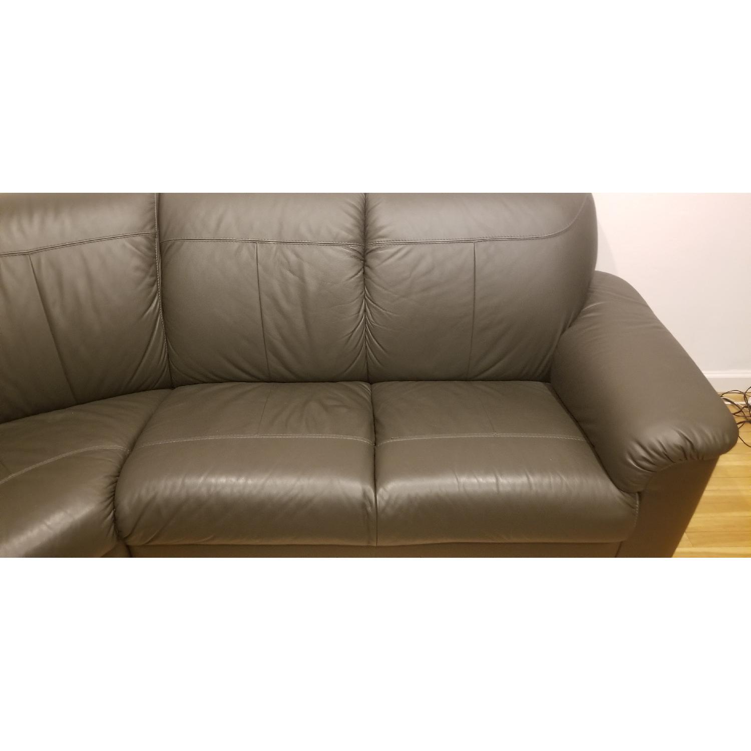 Ikea Timsfors Faux Leather Sectional Sofa - image-6