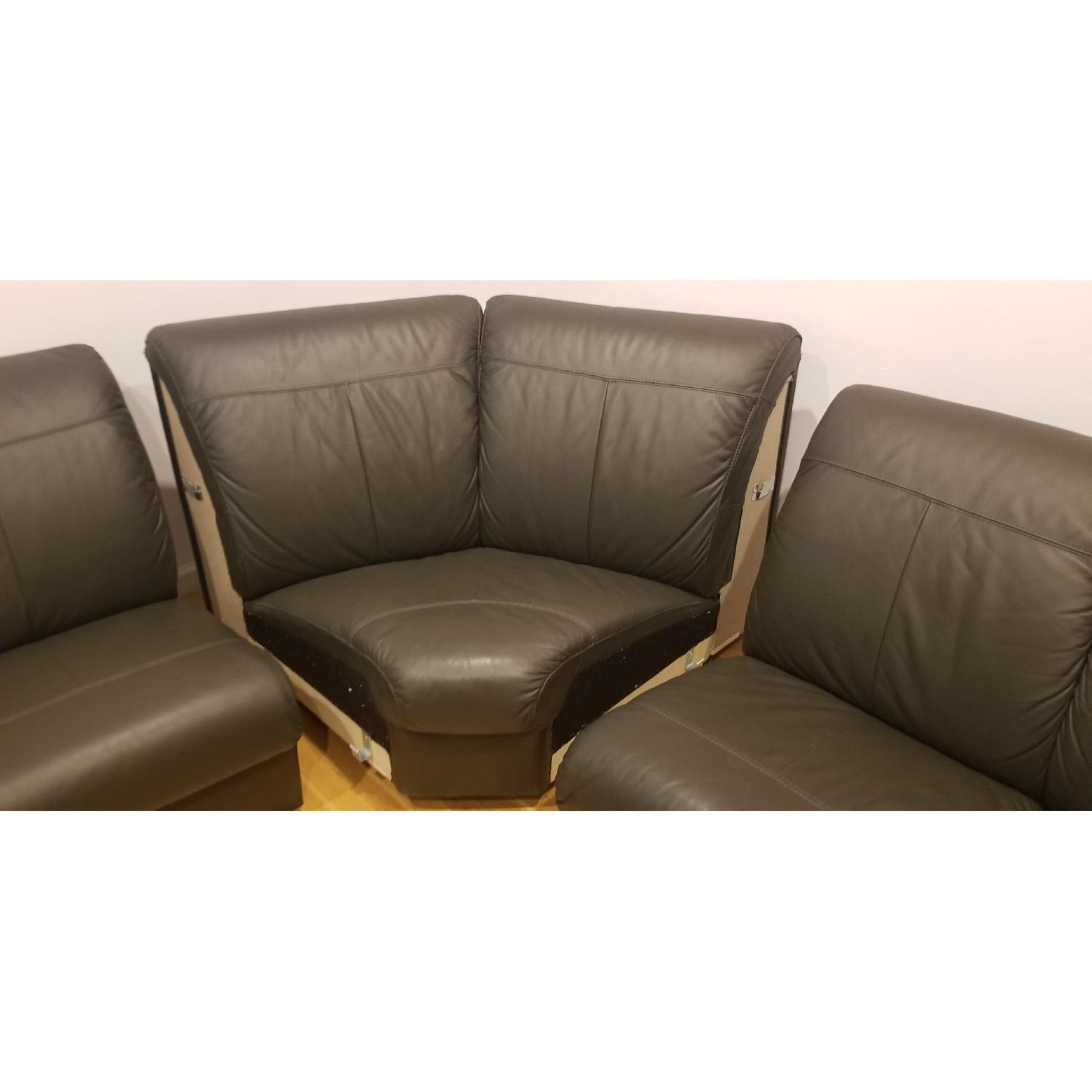 Ikea Timsfors Faux Leather Sectional Sofa - image-9