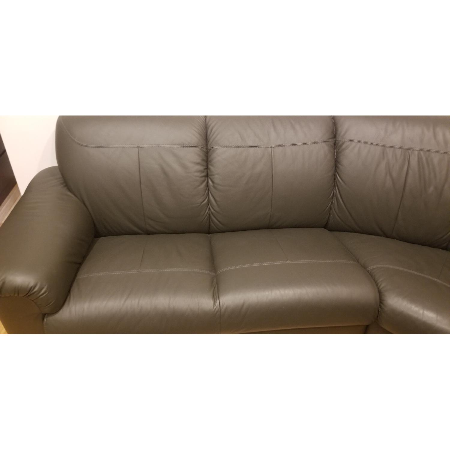 Ikea Timsfors Faux Leather Sectional Sofa - image-10