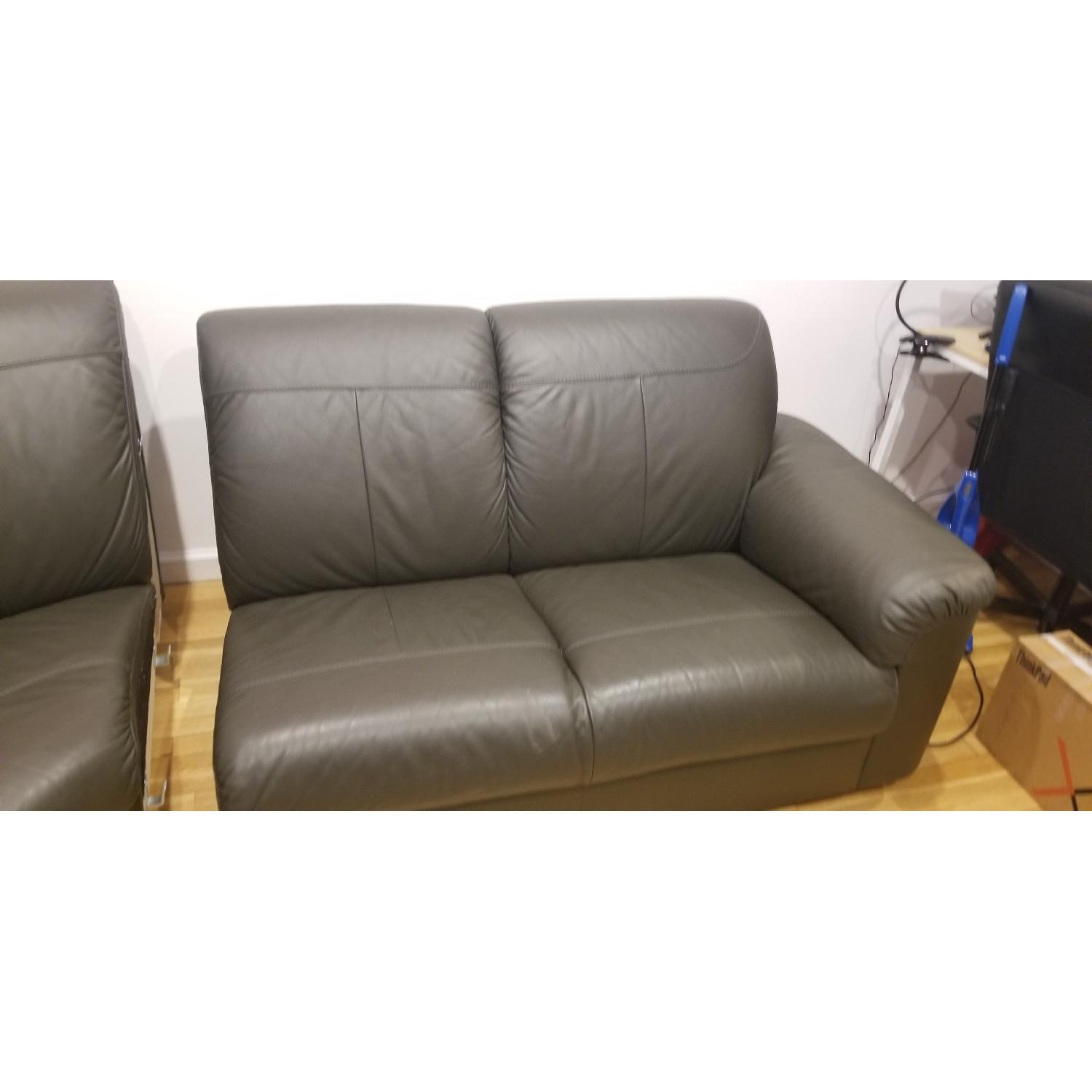 Ikea Timsfors Faux Leather Sectional Sofa - image-11