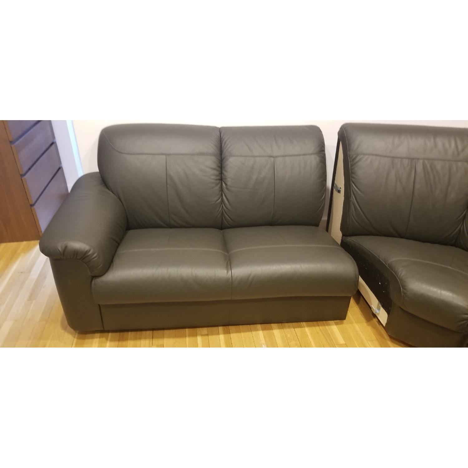 Ikea Timsfors Faux Leather Sectional Sofa - image-12