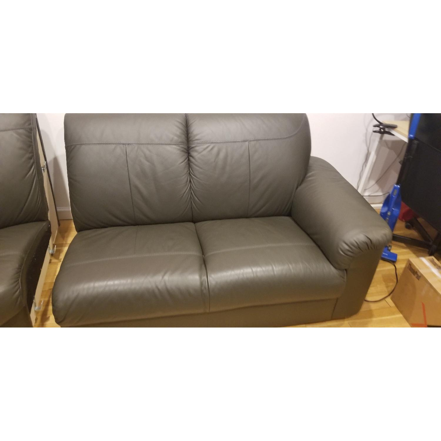 Ikea Timsfors Faux Leather Sectional Sofa - image-18