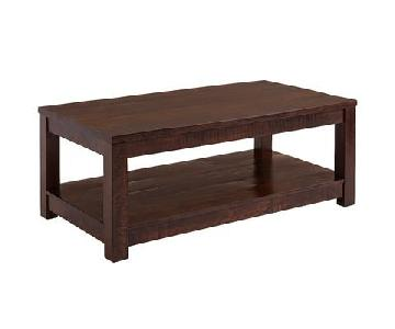 Pier 1 Parsons Tobacco Brown Coffee Table