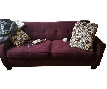 Purple Tufted Sofa
