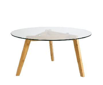 Zipcode Design Hosteen Wood & Glass Coffee Table