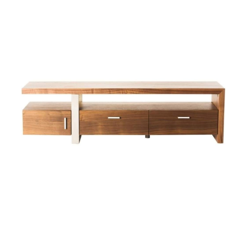 Modern Contemporary Oslo Brown TV Bench & Storage
