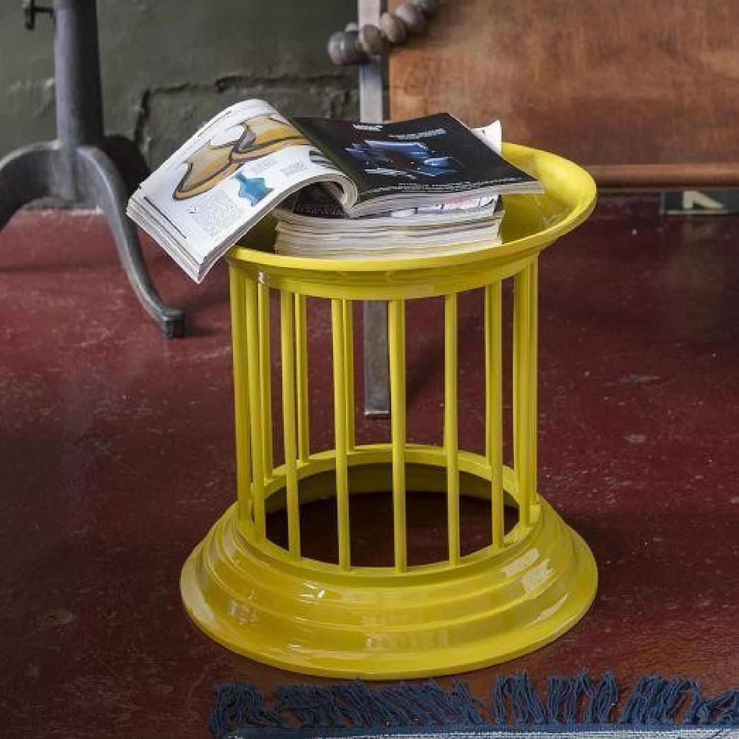 West Elm Gates Gates Lacquer Side Tables in Lemon Yellow-1