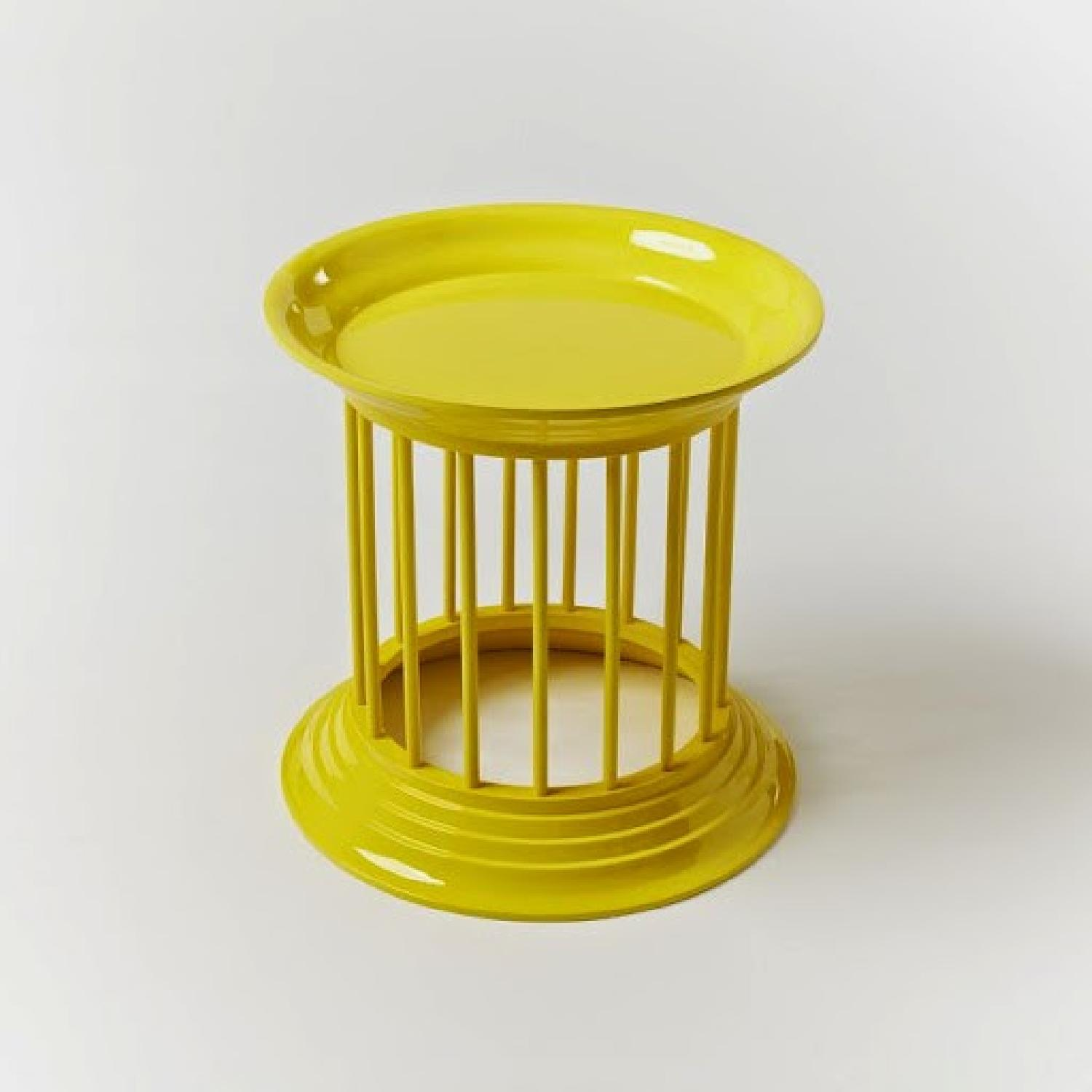 West Elm Gates Gates Lacquer Side Tables in Lemon Yellow-3