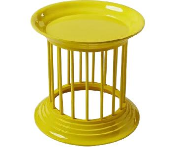 West Elm Gates Gates Lacquer Side Tables in Lemon Yellow