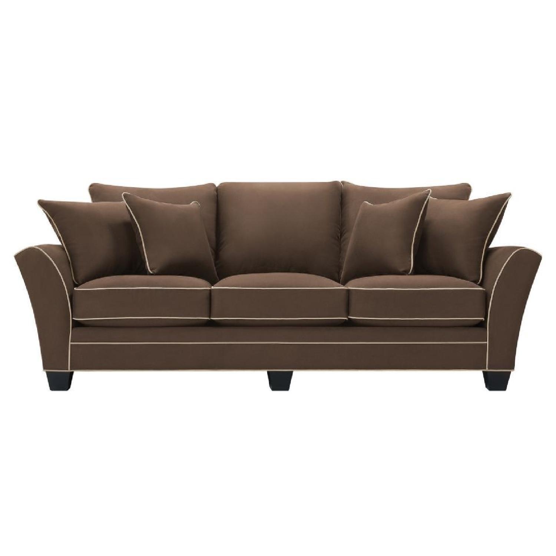 Raymour & Flanigan Briarwood Microfiber Sofa - AptDeco