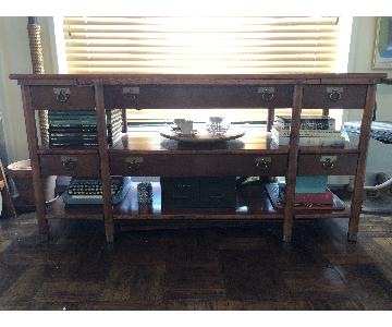 Vintage Telescoping Buffet Table