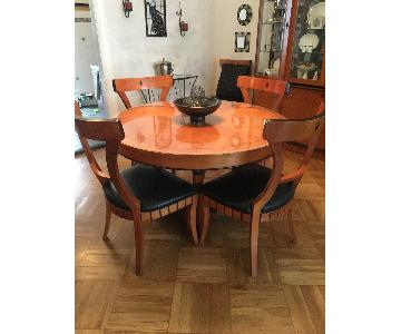 National Mt. Airy Art Deco Style 7-Piece Dining Set