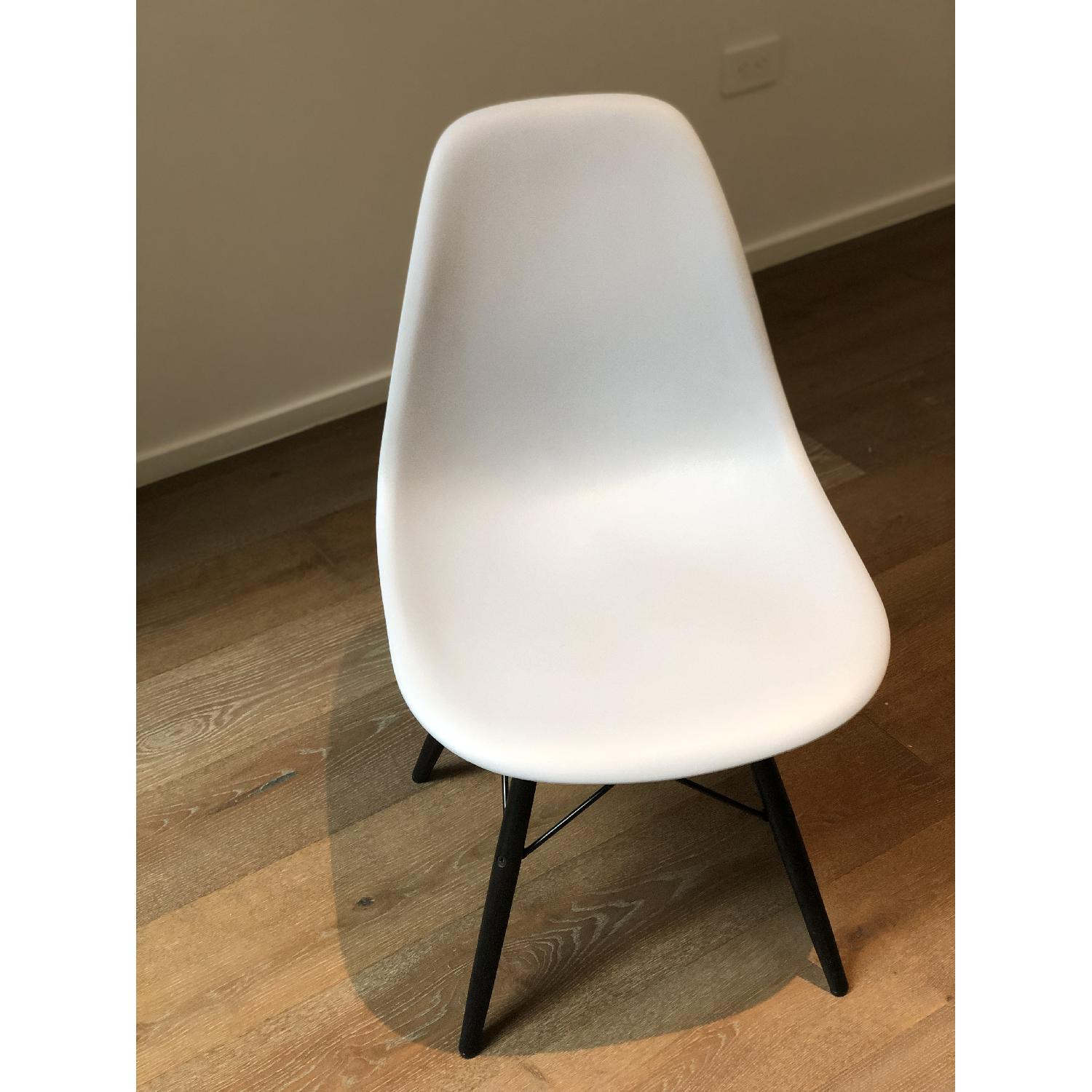 Eames Molded Plastic DSW Dowel-Leg Side Chair - image-1