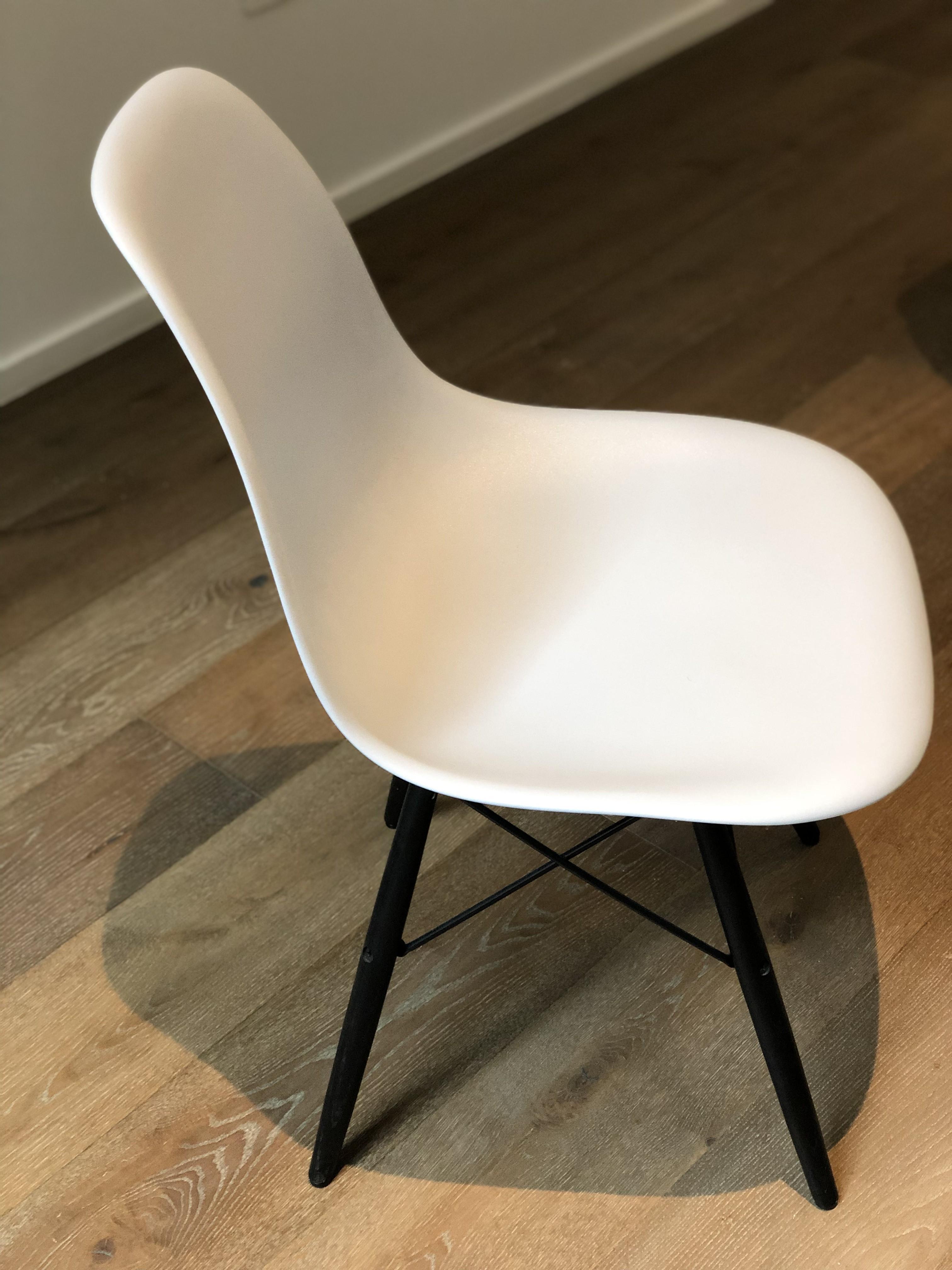 Eames Molded Plastic DSW Dowel-Leg Side Chair
