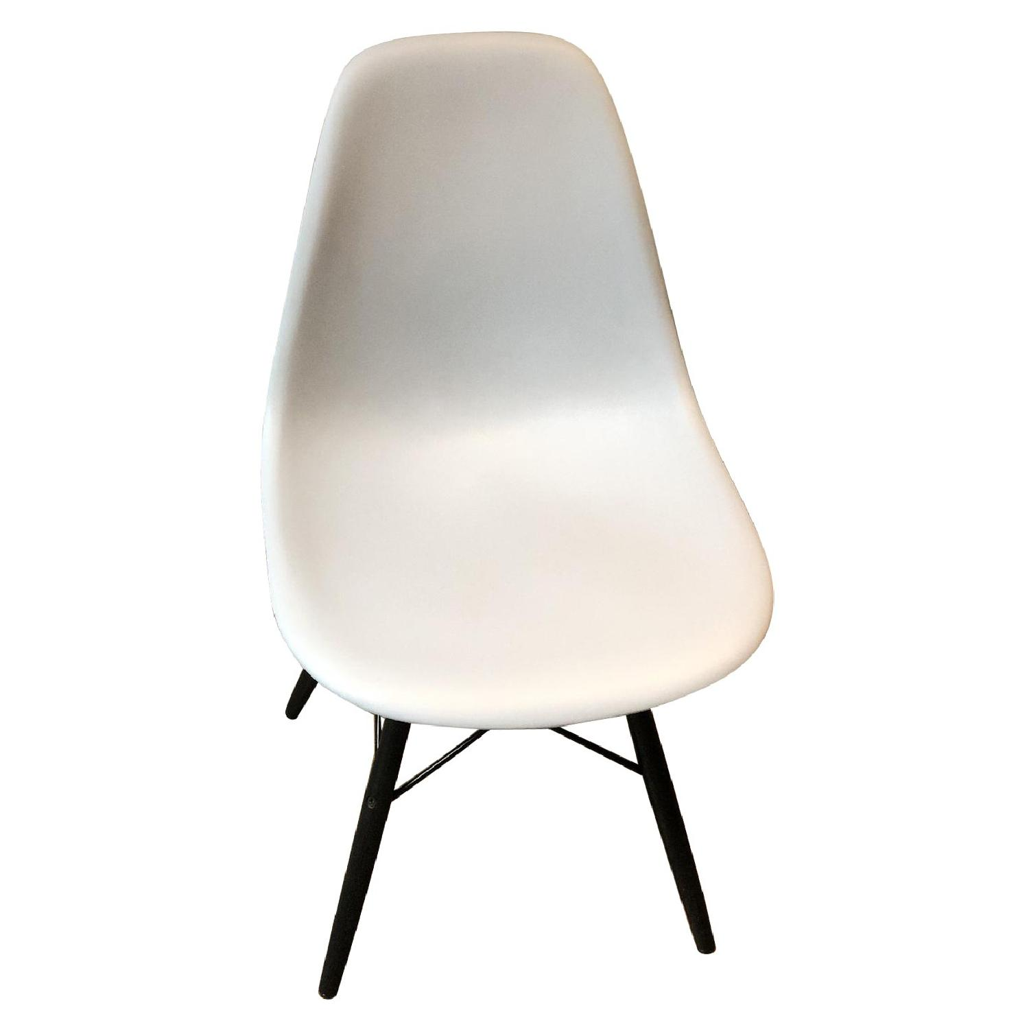 Eames Molded Plastic DSW Dowel-Leg Side Chair - image-0