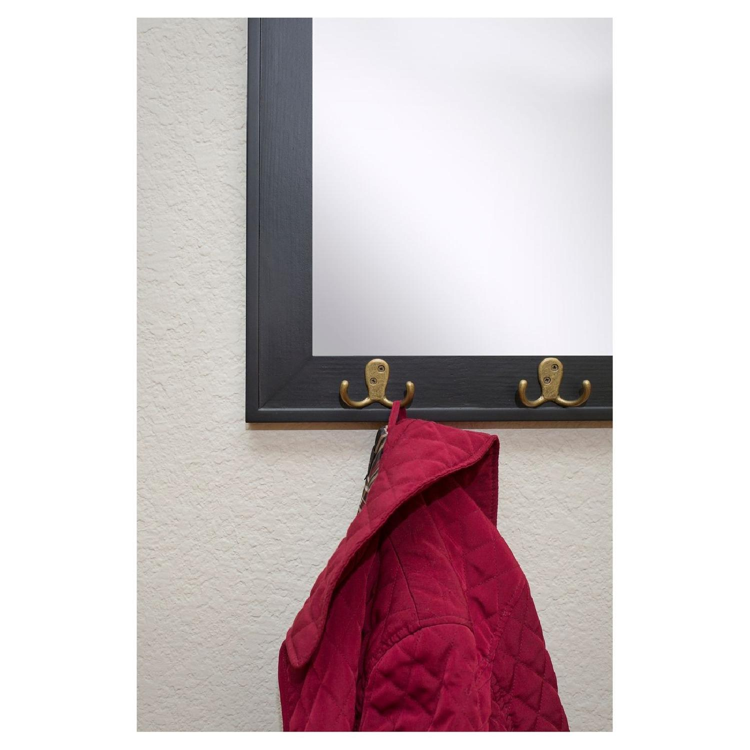 Target Rectangle Entryway Decorative Wall Mirror w/ Hooks - image-2