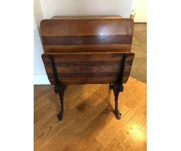Vintage Wood & Iron Desk