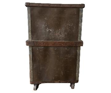 Vintage Industrial Bin on Wheels