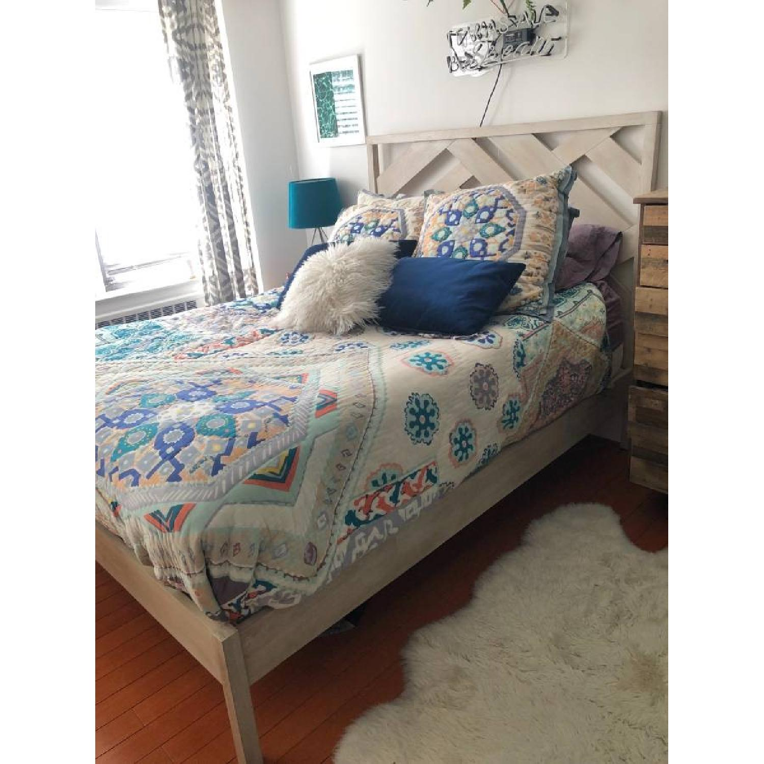 West Elm Reclaimed Wood Queen Bed Frame - image-1