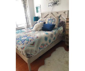 West Elm Reclaimed Wood Queen Bed Frame